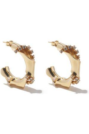ROSANTICA Bamboo Small Crystal-embellished Hoop Earrings - Womens