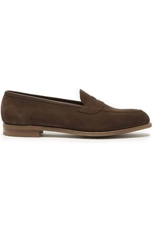 Edward Green - Ventnor Suede Penny Loafers - Mens - Dark
