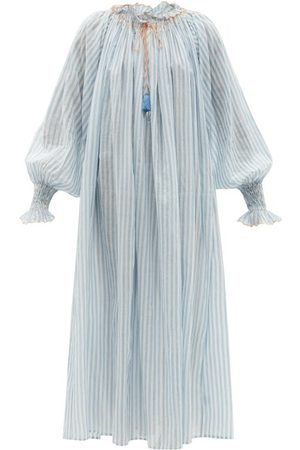 Thierry Colson - Vladia Striped Cotton-voile Dress - Womens