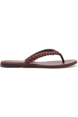 Gianvito Rossi Women Flip Flops - Tropea Braided Leather Flip Flops - Womens