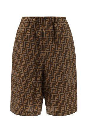 Fendi - Ff-print Silk Shorts - Womens