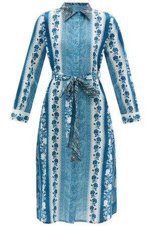 D'Ascoli - Rayna Floral-print Cotton-khadi Shirt Dress - Womens