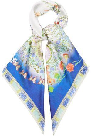 Etro - Jodhpur Flora And Fauna-print Silk-faille Scarf - Womens - Multi