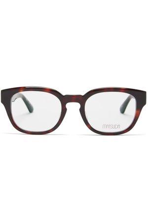 MATSUDA Tortoiseshell-effect Acetate Square Glasses - Mens