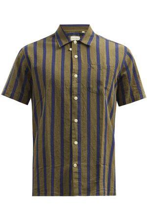 Oliver Spencer - Jacquard-stripe Cotton-blend Twill Shirt - Mens