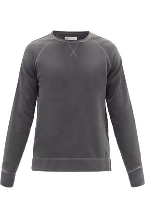 Officine Générale - Baptiste Cotton-jersey Sweatshirt - Mens - Dark Grey