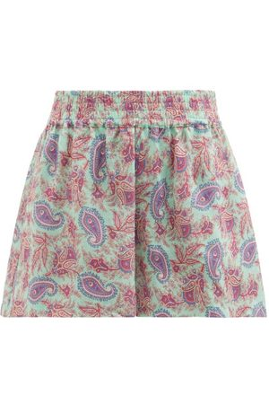 Women Shorts - Etro - San Jose Paisley-print Ramie Shorts - Womens - Multi