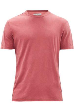 OFFICINE GENERALE Crew-neck Pigment-dyed Jersey T-shirt - Mens - Dark