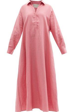 Asceno - Porto Organic-linen Shirt Dress - Womens - Dusty