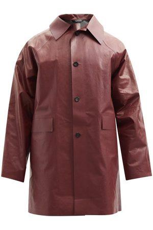 Kassl Editions Original Oil Cotton-blend Coat - Mens - Dark