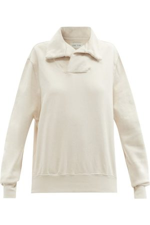 Les Tien - Yacht Brushed-back Cotton Sweatshirt - Womens - Ivory