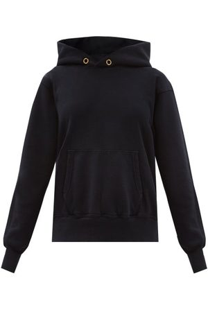 Women Sweatshirts - Les Tien - Brushed-back Cotton Hooded Sweatshirt - Womens - Navy