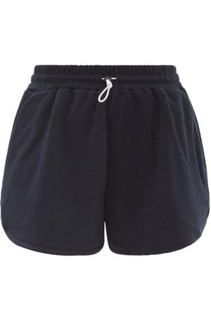 Staud - Bungee Cotton-terry Shorts - Womens - Navy