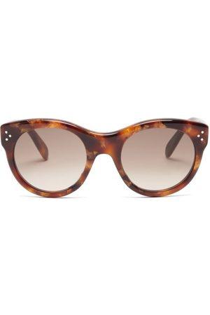 Céline Women Round - Round Tortoiseshell-acetate Glasses - Womens - Tortoiseshell