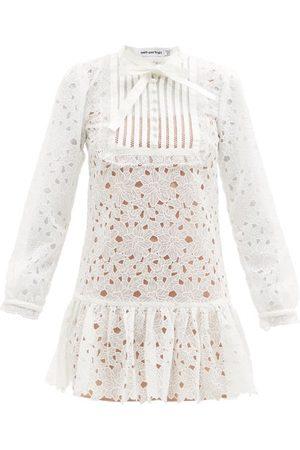 Self-Portrait Portrait - Floral Guipure-lace Mini Dress - Womens