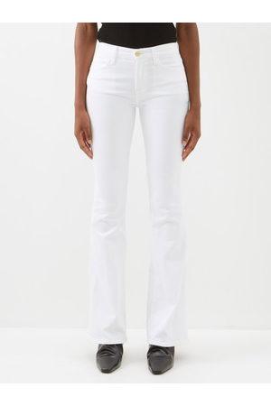 Frame Le High Cotton-blend Flared-leg Jeans - Womens
