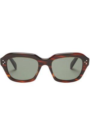 Céline Square Tortoiseshell-acetate Sunglasses - Womens - Tortoiseshell
