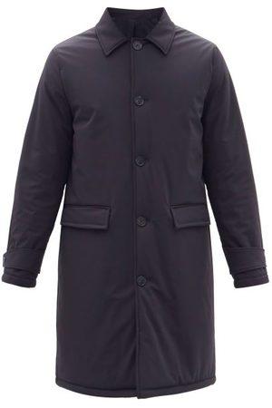 Officine Générale - Aurel Collared Padded Technical Overcoat - Mens - Navy