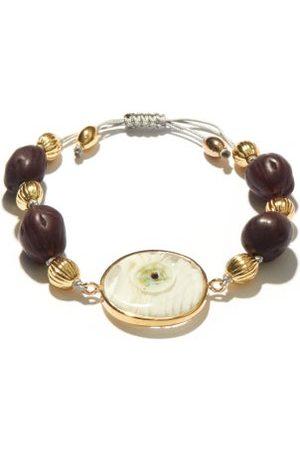 Tohum Design Evil Eye 24kt Gold-plated Bracelet - Womens