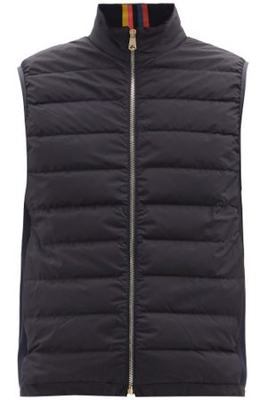 Paul Smith - Panelled Quilted-shell Down Gilet - Mens - Navy