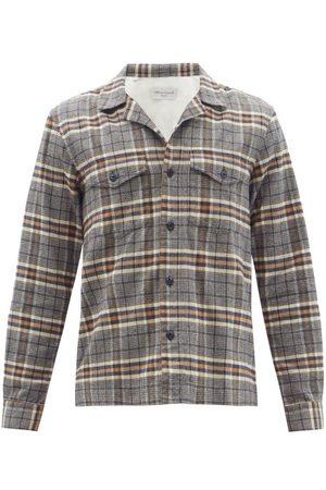 OFFICINE GENERALE Jonas Check Cotton-flannel Shirt - Mens - Multi