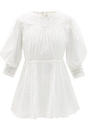 MIMI PROBER Austen Lace-panelled Cotton-voile Mini Dress - Womens