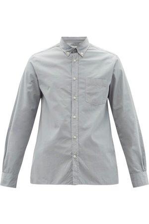 OFFICINE GENERALE Men Shirts - Arsene Cotton-poplin Shirt - Mens - Light Grey