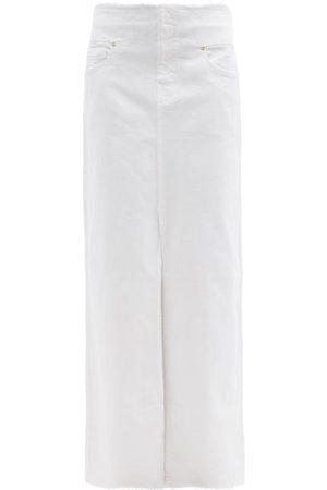Frame High-rise Front-slit Denim Maxi Skirt - Womens
