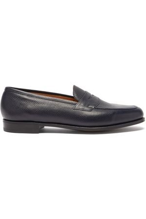 Edward Green - Duke Grained-leather Penny Loafers - Mens - Navy