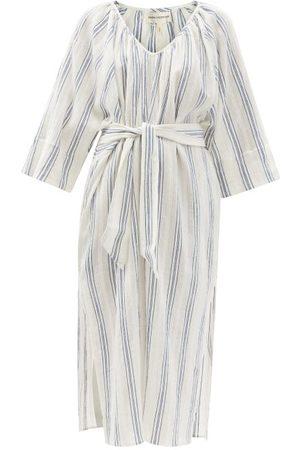 Mara Hoffman Luz Belted Striped Organic-cotton Midi Dress - Womens - Stripe