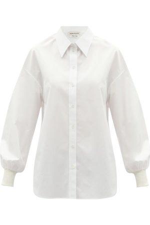 Alexander Mcqueen - Balloon-sleeve Cotton-poplin Shirt - Womens