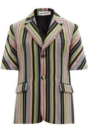 Kenneth Ize - Single-breasted Striped Aso-oke Jacket - Womens - Multi