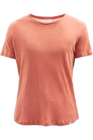 Orlebar Brown Men T-shirts - Crew-neck Linen T-shirt - Mens