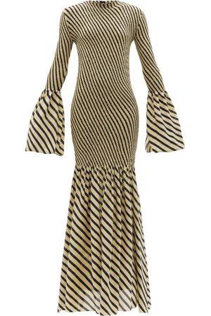 Petar Petrov - Alodie Shirred Striped Silk-crepe Dress - Womens