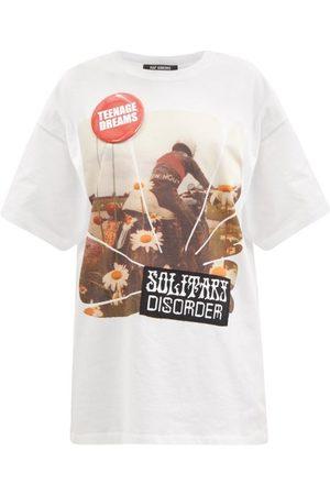 Women T-shirts - Raf Simons - Solitary Disorder-print Cotton-jersey T-shirt - Womens