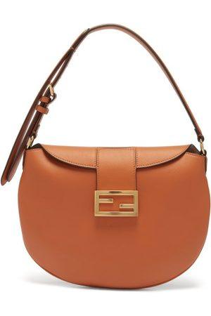 Fendi - Croissant Ff-logo Leather Shoulder Bag - Womens - Tan
