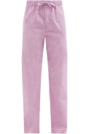 Tekla - Drawstring Organic-cotton Pyjama Trousers - Womens