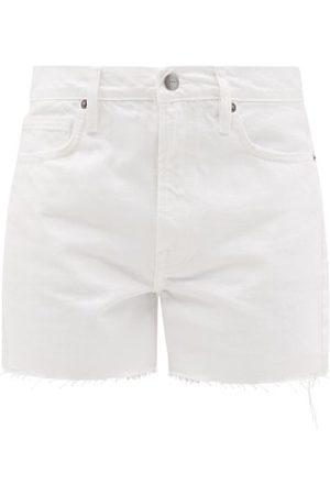 Frame Women Shorts - Le Simone Raw-edged Denim Shorts - Womens