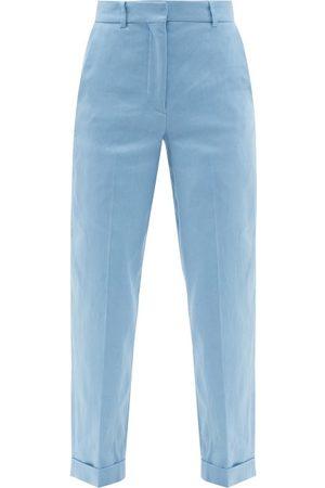 Joseph Trina Straight-leg Linen-blend Cropped Trousers - Womens - Light