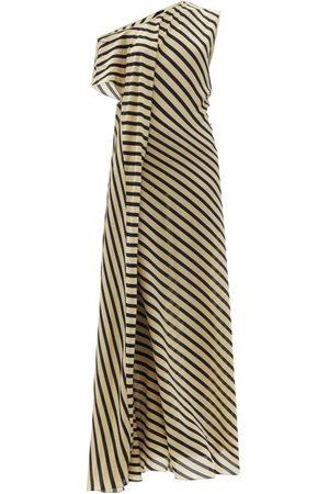 Petar Petrov - Acacia One-shoulder Striped Silk-crepe Dress - Womens