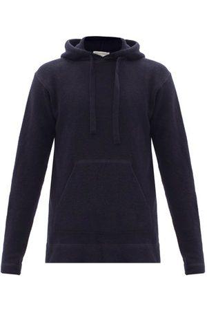 OFFICINE GENERALE Men Sweatshirts - Olive Hooded Wool-blend Sweatshirt - Mens - Navy