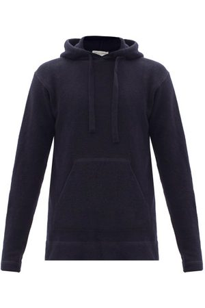 Officine Générale - Olive Hooded Wool-blend Sweatshirt - Mens - Navy