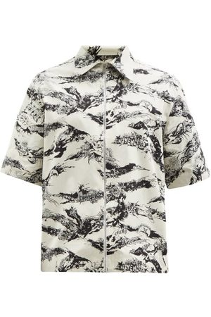 Givenchy Zipped Cotton-poplin Short-sleeved Shirt - Mens