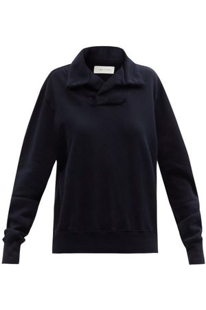Women Sweatshirts - Les Tien - Yacht Brushed-back Cotton Sweatshirt - Womens - Navy