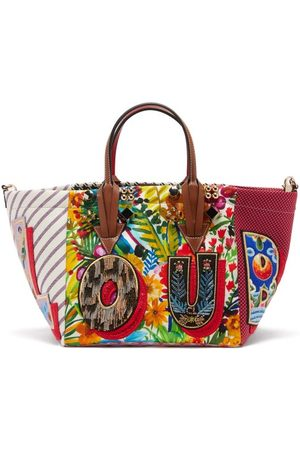 Women Purses - Christian Louboutin - Caracaba Small Patchwork Tote Bag - Womens - Multi