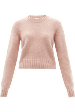 Women Sweaters - Raey - Crew-neck Alpaca-blend Textured Sweater - Womens - Light