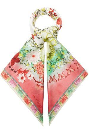 Women Scarves - Etro - Jodhpur Flora And Fauna-print Silk-faille Scarf - Womens - Multi