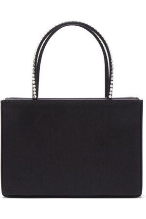 Amina Muaddi - Amina Gilda Crystal-handle Silk-satin Box Bag - Womens