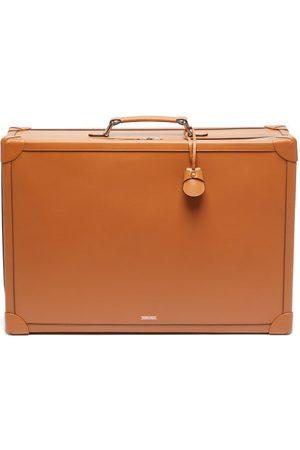 TANNER KROLLE Soft Trunk 55 Leather Cabin Suitcase - Mens