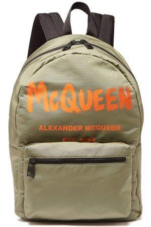 Alexander McQueen Metropolitan Logo-print Canvas Backpack - Mens - Khaki